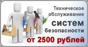 Техническое обслуживание систем безопасности от 2500 рублей